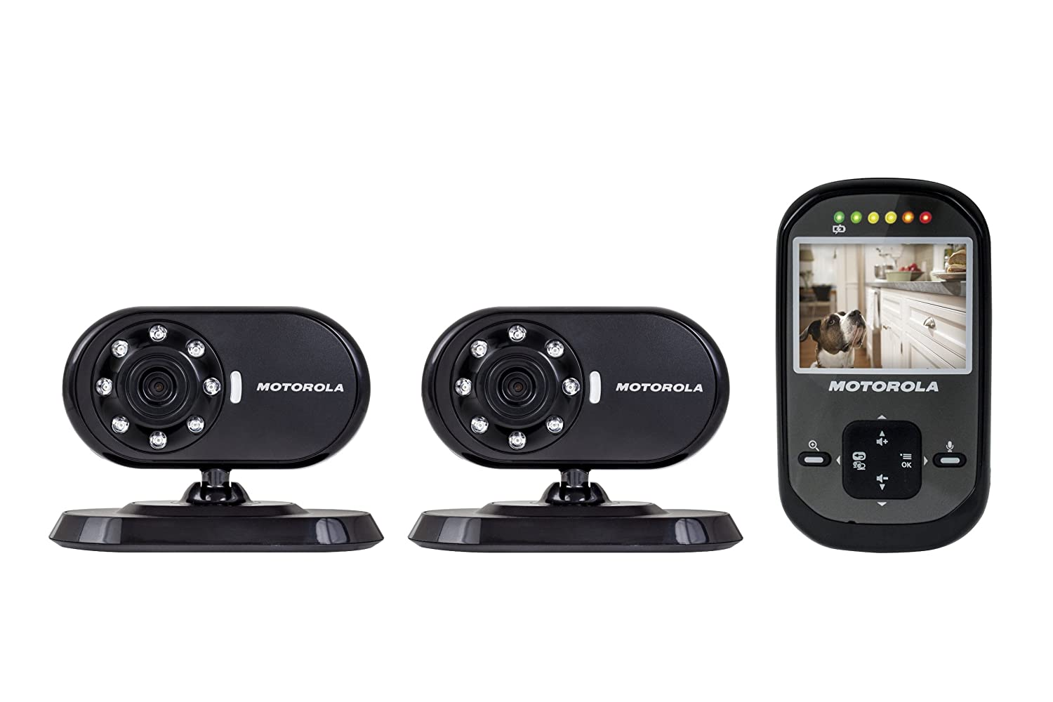 Motorola Scout500-2 Remote Wireless Pet Monitor with 2 Cameras and 2.4-Inch Color LCD Monitor Screen, Infrared Night Vision and Remote Camera Pan Exclusive Group