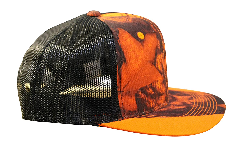 Amazon.com : Mossy Oak Blaze Camo Trucker Hat, CF2 Curved or Flat ...