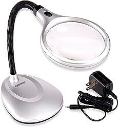 Carson LM-20 Tischlupe (2-5-fach Vergrößerung) 2-LED Leuchte