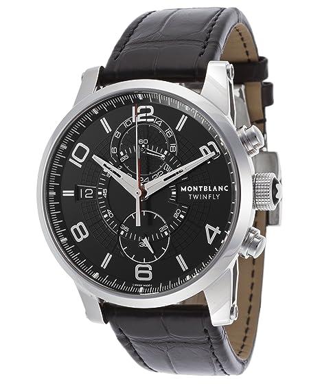 Montblanc 105077 de los hombres Timewalker pantalla analógica Swiss - Reloj automático negro: Amazon.es: Relojes