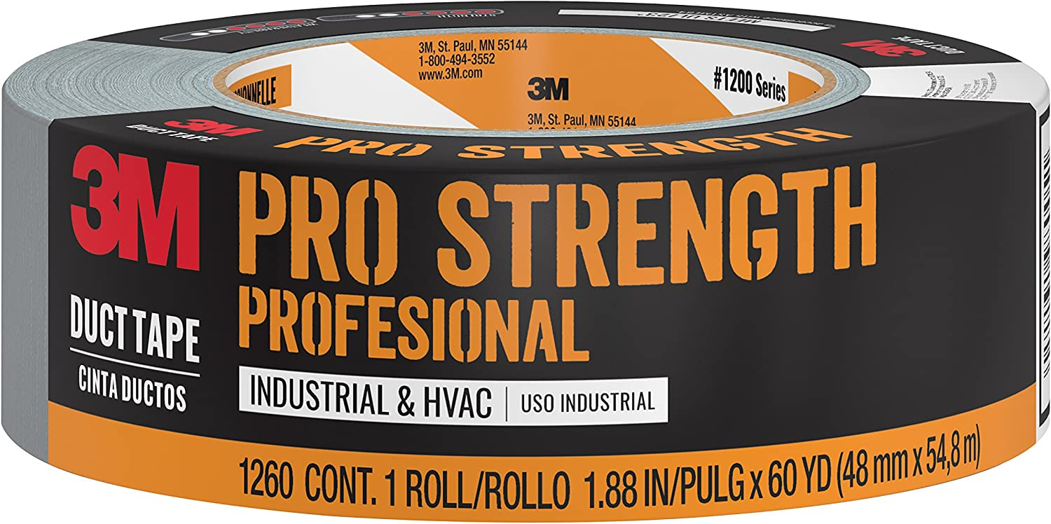 3MPro Strength Duct Tape, 1260-A, 1.88Inches by 60 Yards