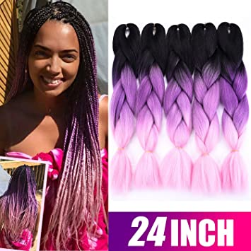 Amazon Silike 5 Pieces Kanekalon Jumbo Braiding Hair 24