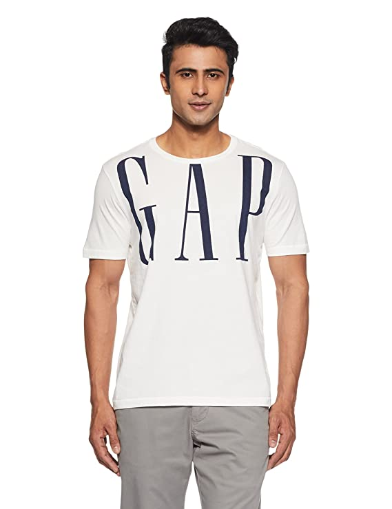 ad3be51f0 GAP Gap Logo Remix Short Sleeve Crewneck T-Shirt For Men's: Amazon.in:  Clothing & Accessories