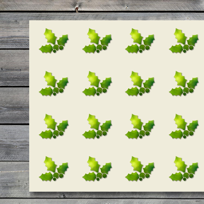Holly Berries Leaf クリスマスクラフトステッカー 44枚セット 1.5インチ スクラップブック パーティー シール DIYプロジェクト アイテム 598830 B07DZ661G6