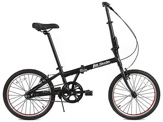 FabricBike Folding Bicicleta Plegable Cuadro Aluminio 3 Colores (Matte Black & Orange): Amazon.es: Deportes y aire libre