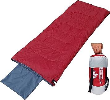 OutdoorsmanLab Lightweight Sleeping Bag For Camping Backpacking Travel Kids Men Women 3 Season