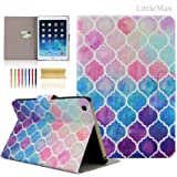 iPad Air 2 Case,LittleMax(TM) *Card Holder* PU Leather Flip Case Stand Case Cover *Fullbody Feature* for iPad Air 2 / iPad 6 - 9.7 Inch [Free Cleaning Cloth,Stylus Pen]-Colorful Lantern
