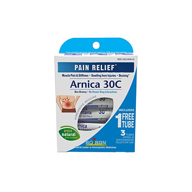 Boiron Arnica Montana, 1 Pack of 3 Tubes, 30C ...