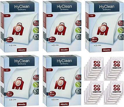20 Sacchetti Fjm Tipo Aspirapolvere Sacchetti 4 x FILTRI /& 20 x deodoranti Miele per Miele S312I