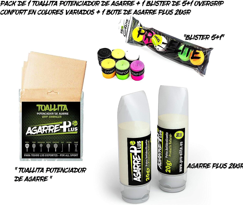 Pack Pro Elite toallitas + Agarre Plus + Blister overgrips Confort