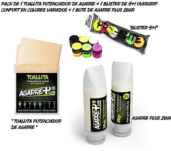 Pack Pro Elite toallitas + Agarre Plus + Blister overgrips ...