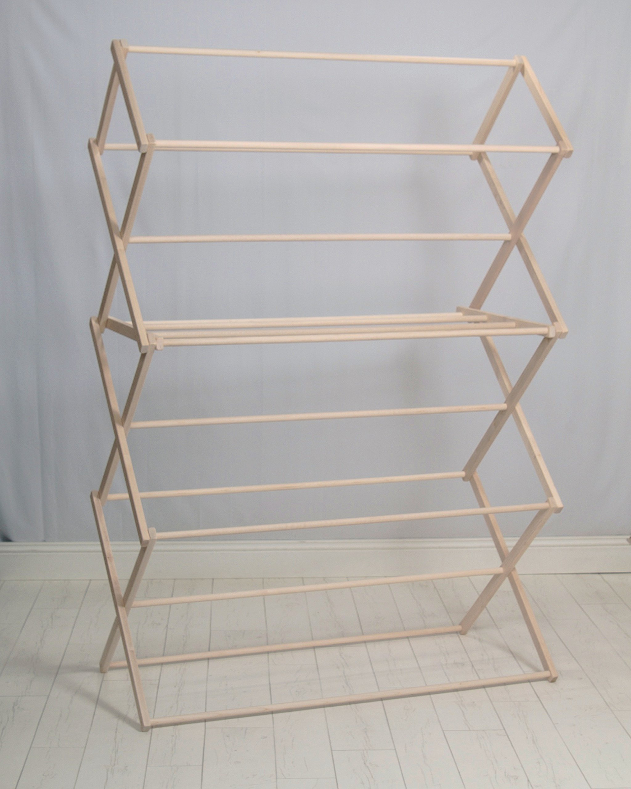 Pennsylvania Woodworks Clothes Drying Rack (Made in the USA) Heavy Duty 100% Hardwood (XX-Large)