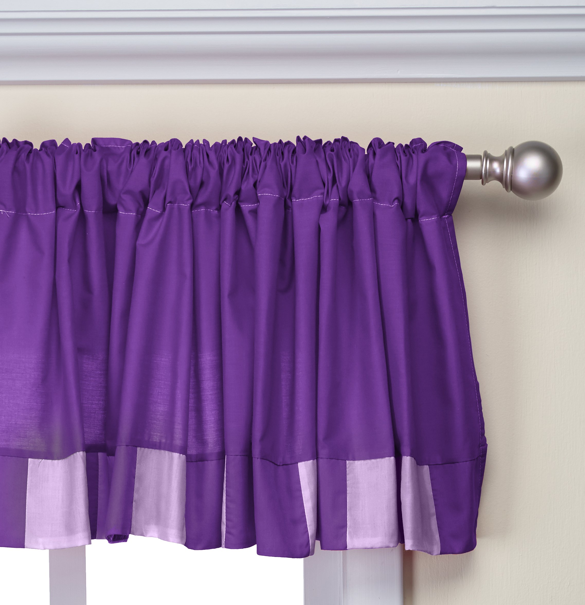 Baby Doll Bedding Patchwork Perfection Window Valance, Plum/Lavender by BabyDoll Bedding