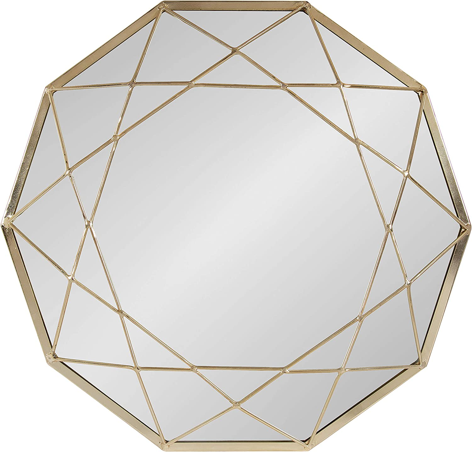 Amazon Com Kate And Laurel Keyleigh Modern Glam Geometric Shaped Metal Accent Wall Mirror Gold Home Kitchen