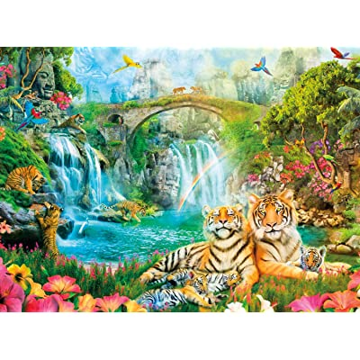 Buffalo Games - Aimee Stewart - Majestic Tiger Grotto - 1000 Piece Jigsaw Puzzle, Model:12700: Toys & Games