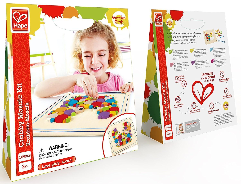 Hape Crabby Wooden Mosaic Wall Art Toddler Arts and Crafts Kit