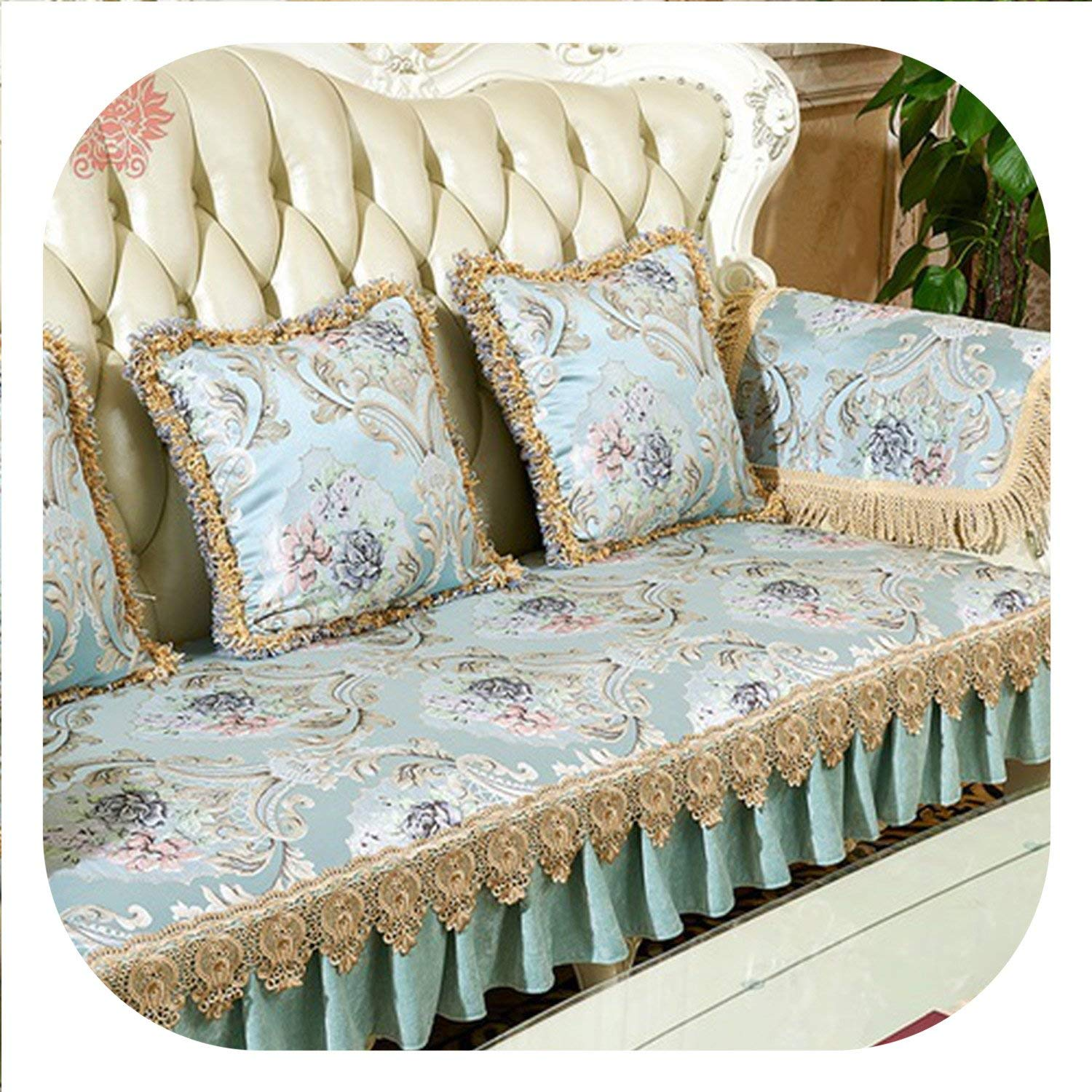 Amazon.com: Europe Style Luxury Floral Jacquard Embroidery ...