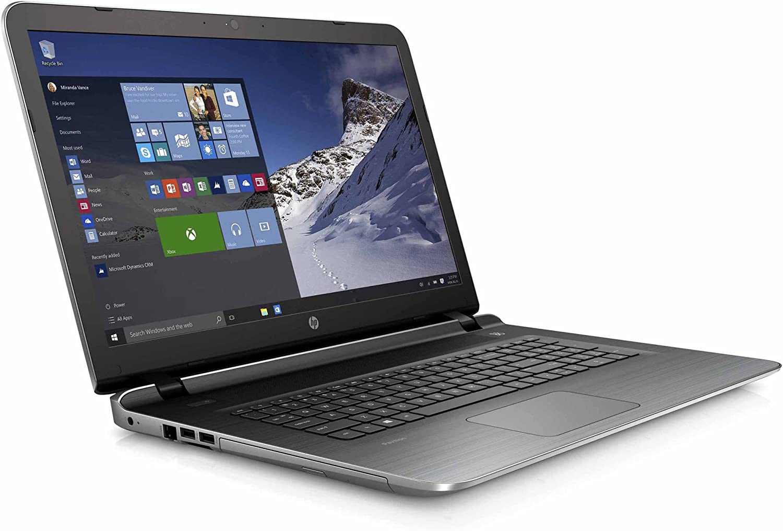 "HP 17.3"" Pavilion 17 Laptop PC (AMD quad-core A10-8700P 1.8GHz up to 3.2GHz, 8GB RAM, 1TB Hard Drive, SuperMulti DVD Burner, HD Webcam, Windows 10 Home) (Renewed)"