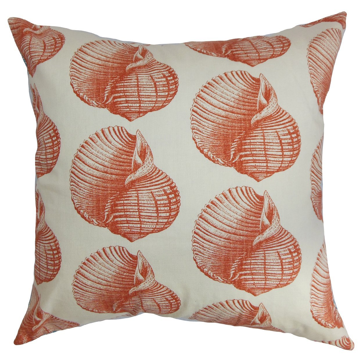 The Pillow Collection Bahari tic Throw Pillow Cover Persimmon