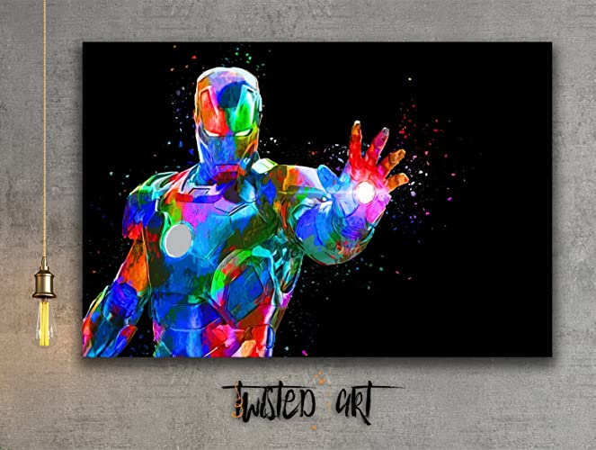Amazon.com: Iron Man Movie Modern Abstract Box Framed Canvas Art ...