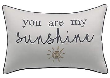 Amazon.com: YugTex - Funda de almohada con cita bordada en ...