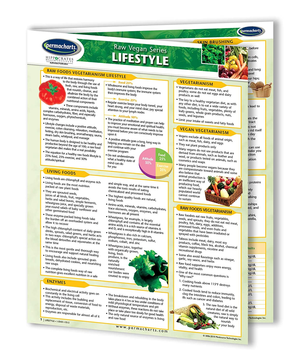 Vegan Lifestyle Guide - Raw Food - Vegan Quick Reference Guide by Permacharts