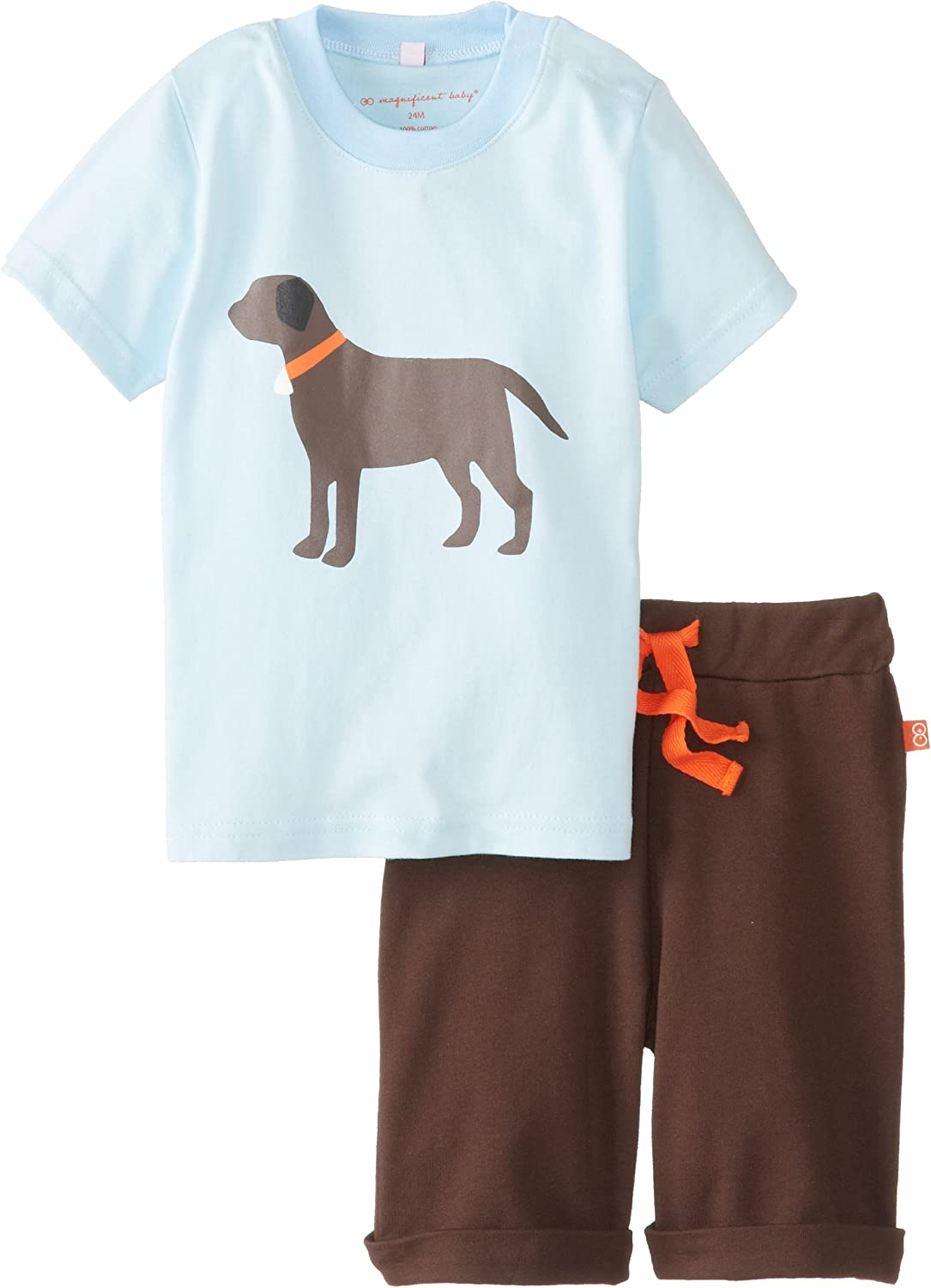 Magnificent Baby Baby Boys Lab Tee with Short
