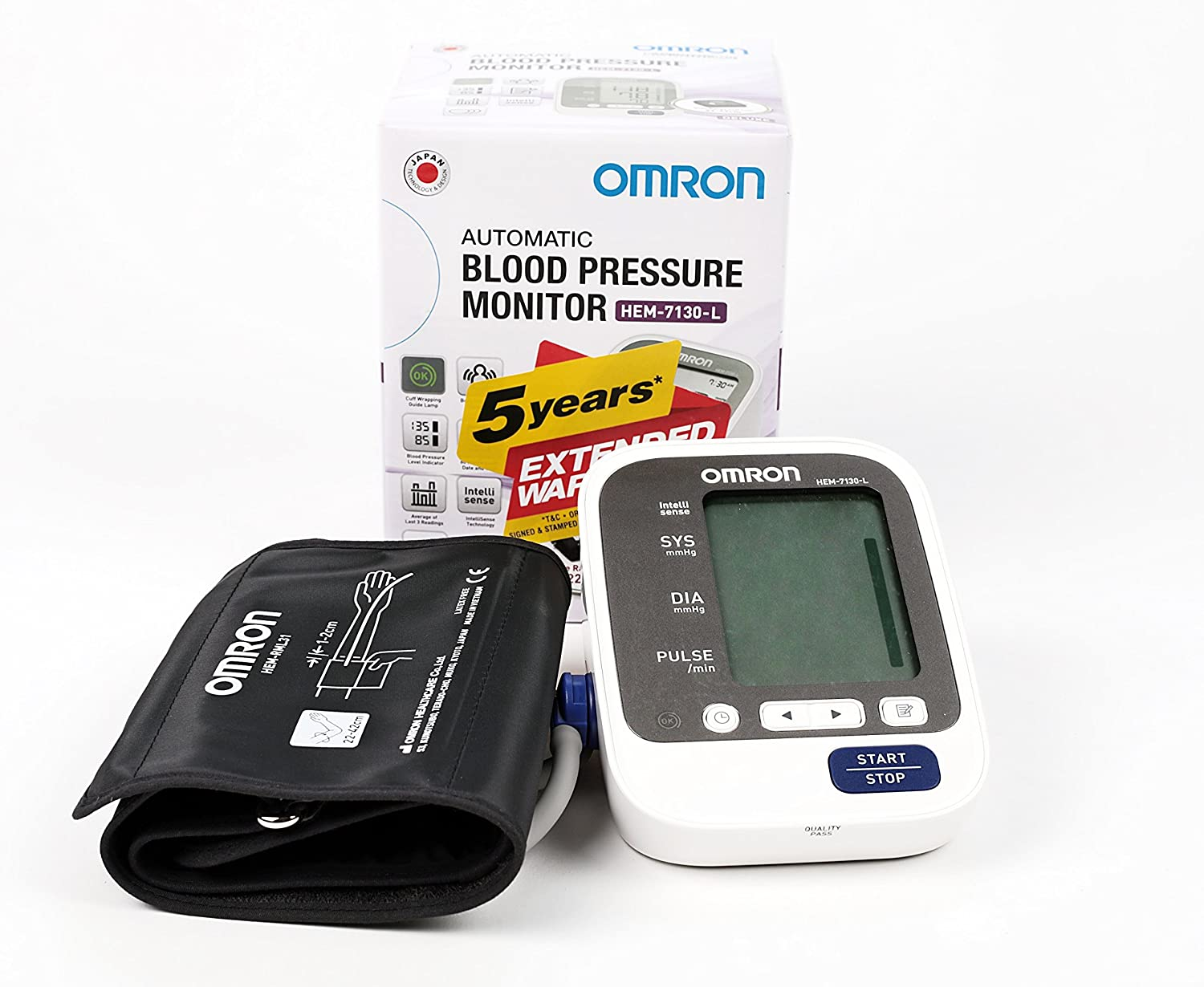 Omron HEM-7130-L Best Blood Pressure Monitor with Large Cuff