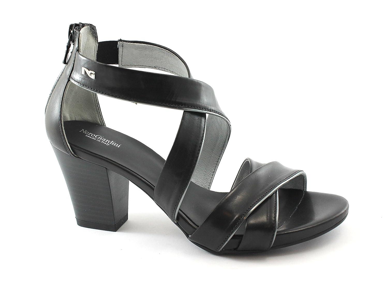 889090b3 Delicado Nero Giardini 05650 Negro Zapatos de Mujer Sandalias Talón ...