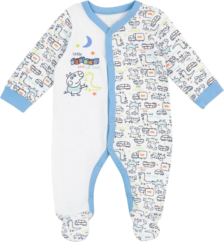 George Pig - Pijama Entera para Niños Bebés - George Pig - 3 a 6 ...
