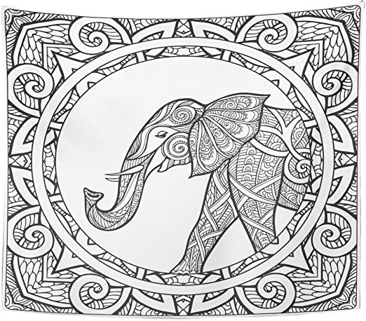 Top 20 Free Printable Elephant Coloring Pages Online | 459x522