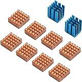 ラズベリーパイVGA RAM冷却ヒートシンククーラーのための8ピースのenokay冷却の銅製ヒートシンク