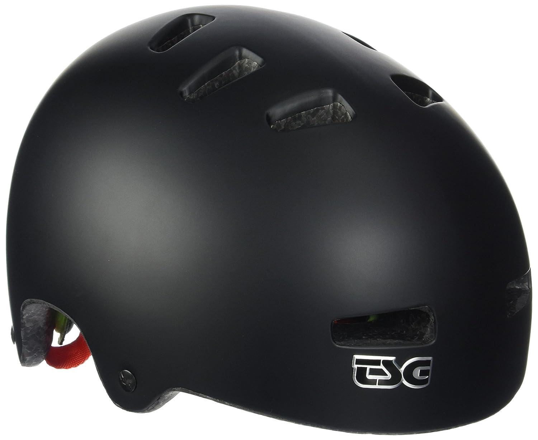 TSG Superlight Solid Color - Casco de Skateboarding Unisex, Color Negro, Talla L/XL 39-17-01-219