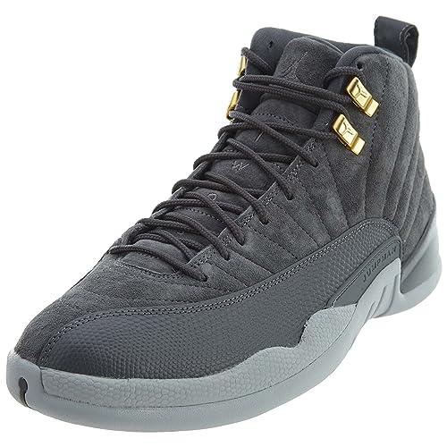 6a435bb8c91 Amazon.com | Jordan 12 Retro Dark Grey Mens Style: 130690-005 Size ...