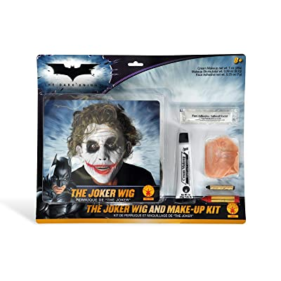 Deluxe Joker Wig & Make-Up Kit Costume Accessory: Toys & Games