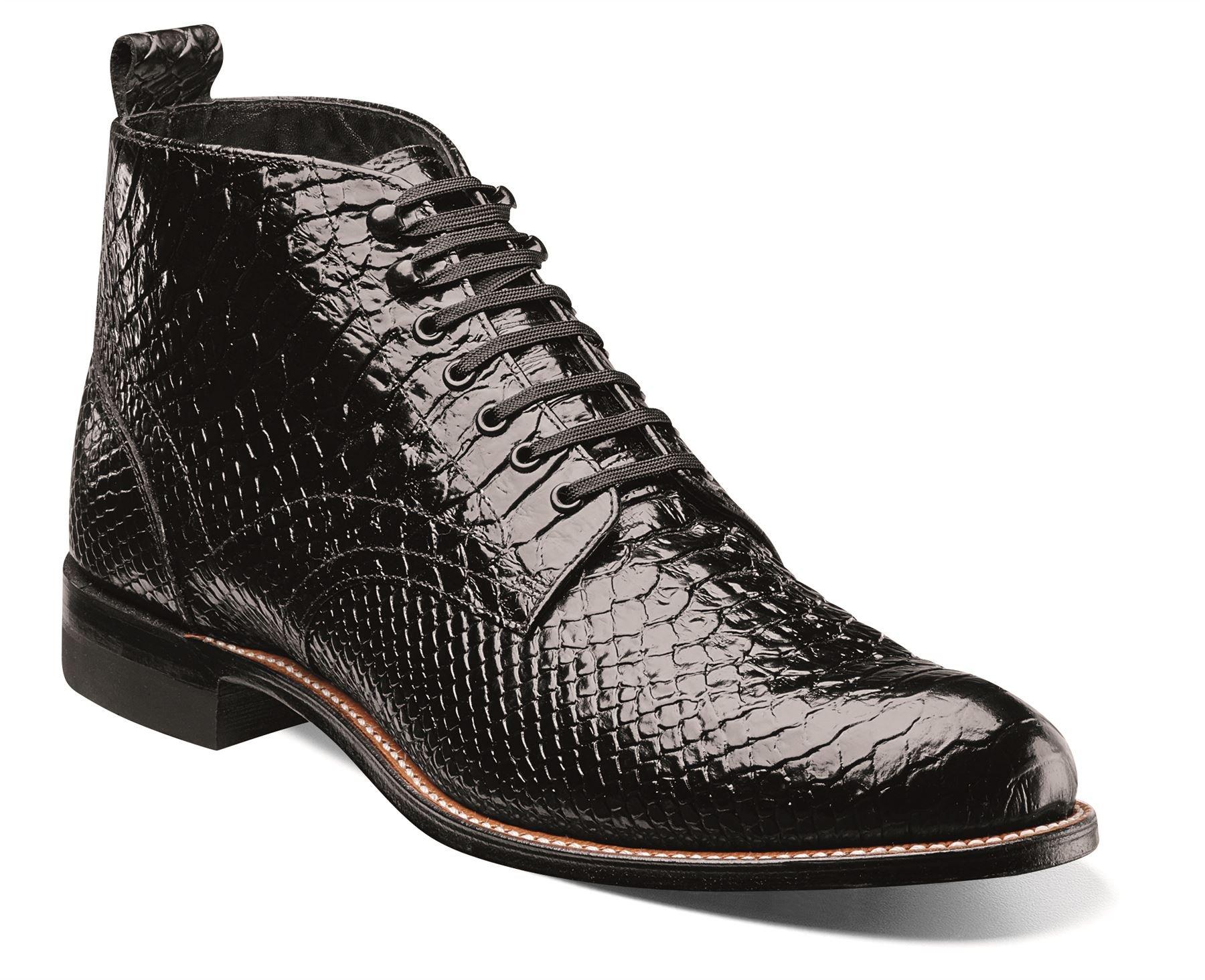 STACY ADAMS Madison HI Anaconda Men's Boot 14 D(M) US Black