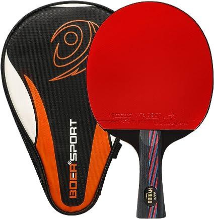 Ancees Pala Ping Pong, Pala de Tenis de Mesa de Carbono con Funda ...