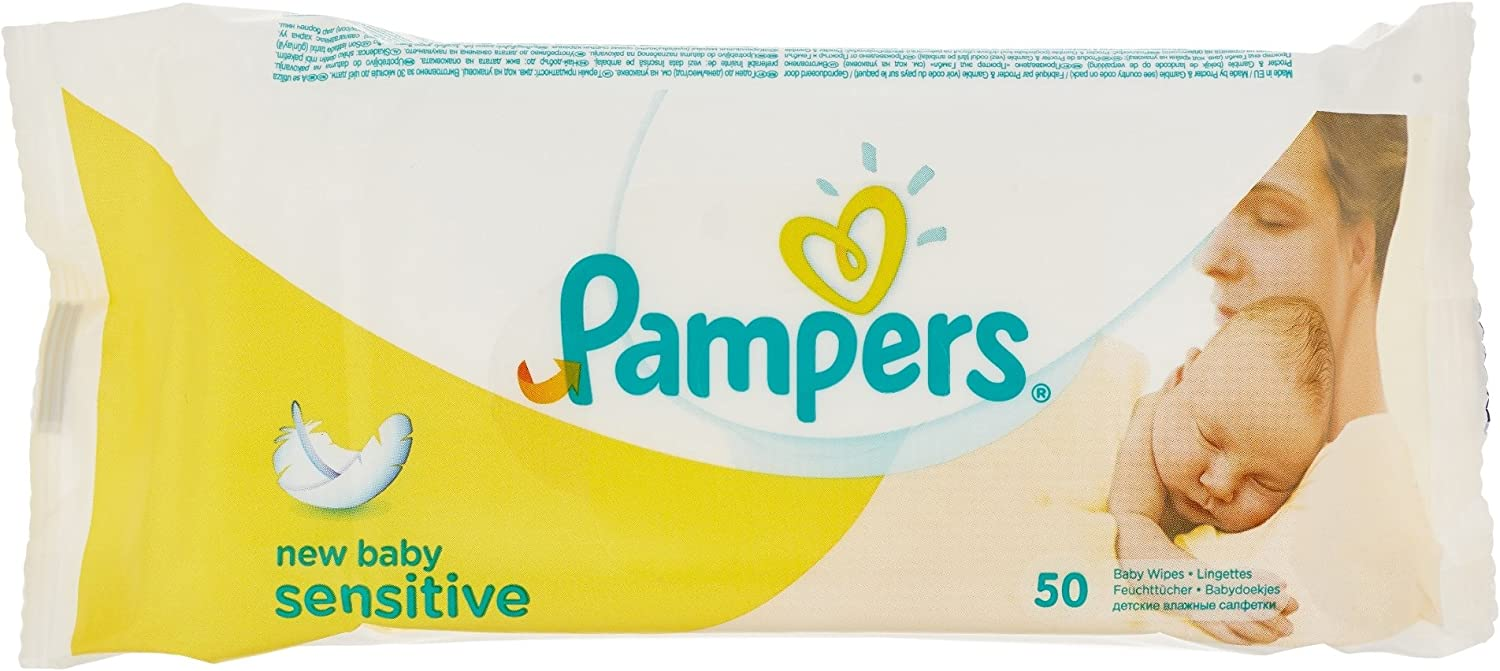 Pampers New Baby Sensitive 50 Baby Wipes/