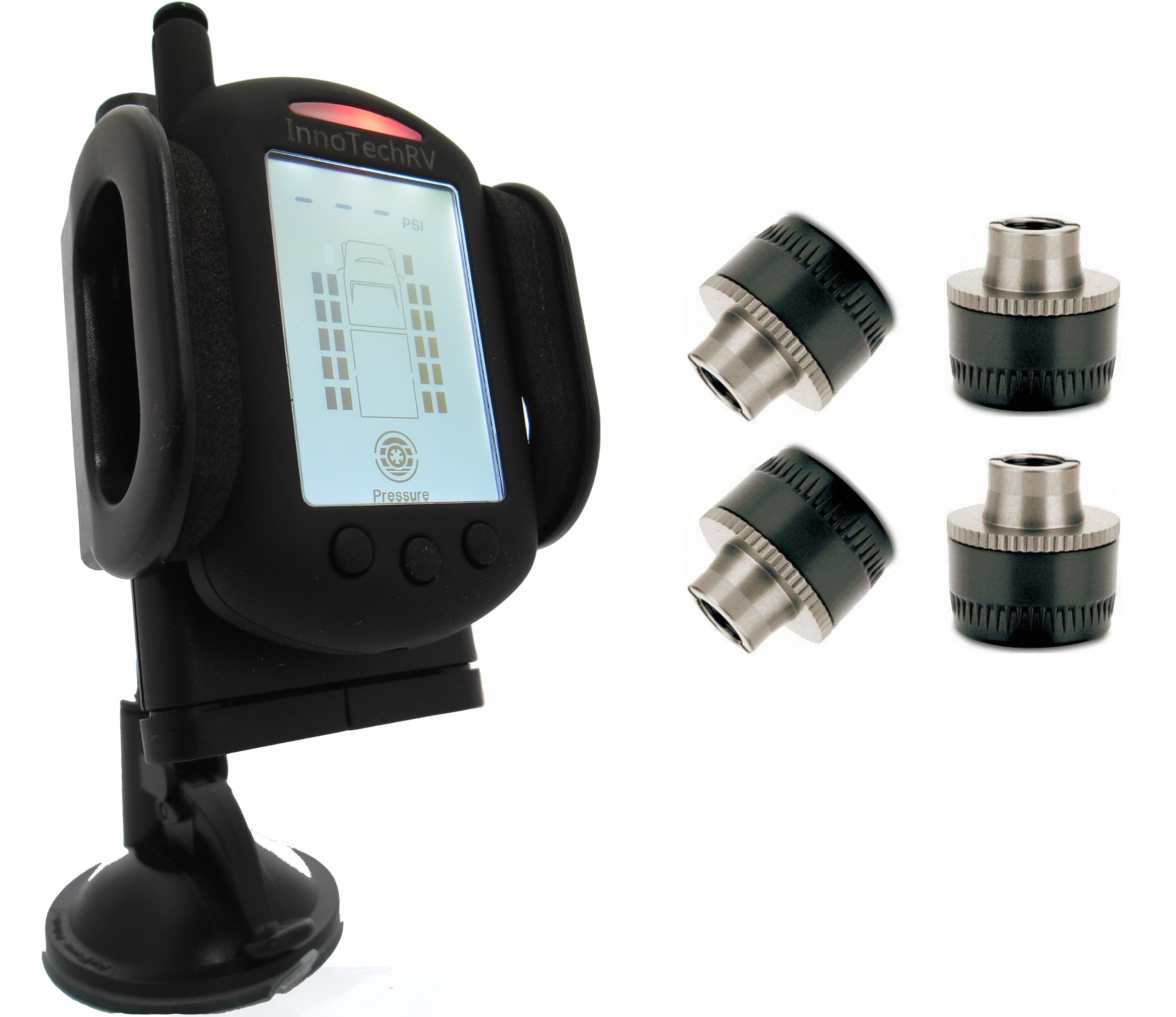 Tire Pressure Monitoring System for RVs and Trucks with 4 Sensors