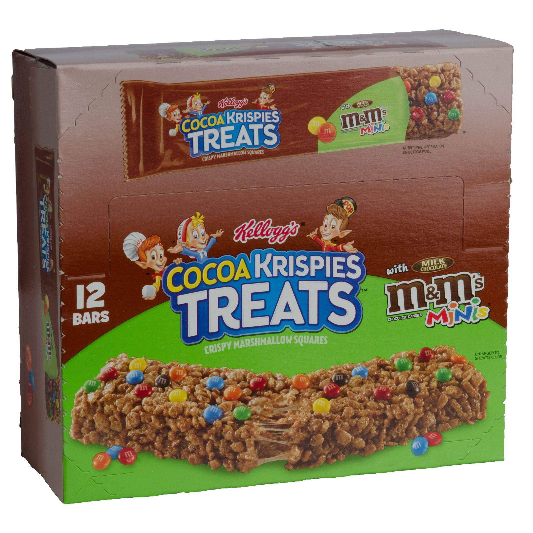 Kelloggs Rice Krispies Cocoa Treats with Milk Chocolate M and Ms Minis, 1.94 Ounce -- 72 per case.