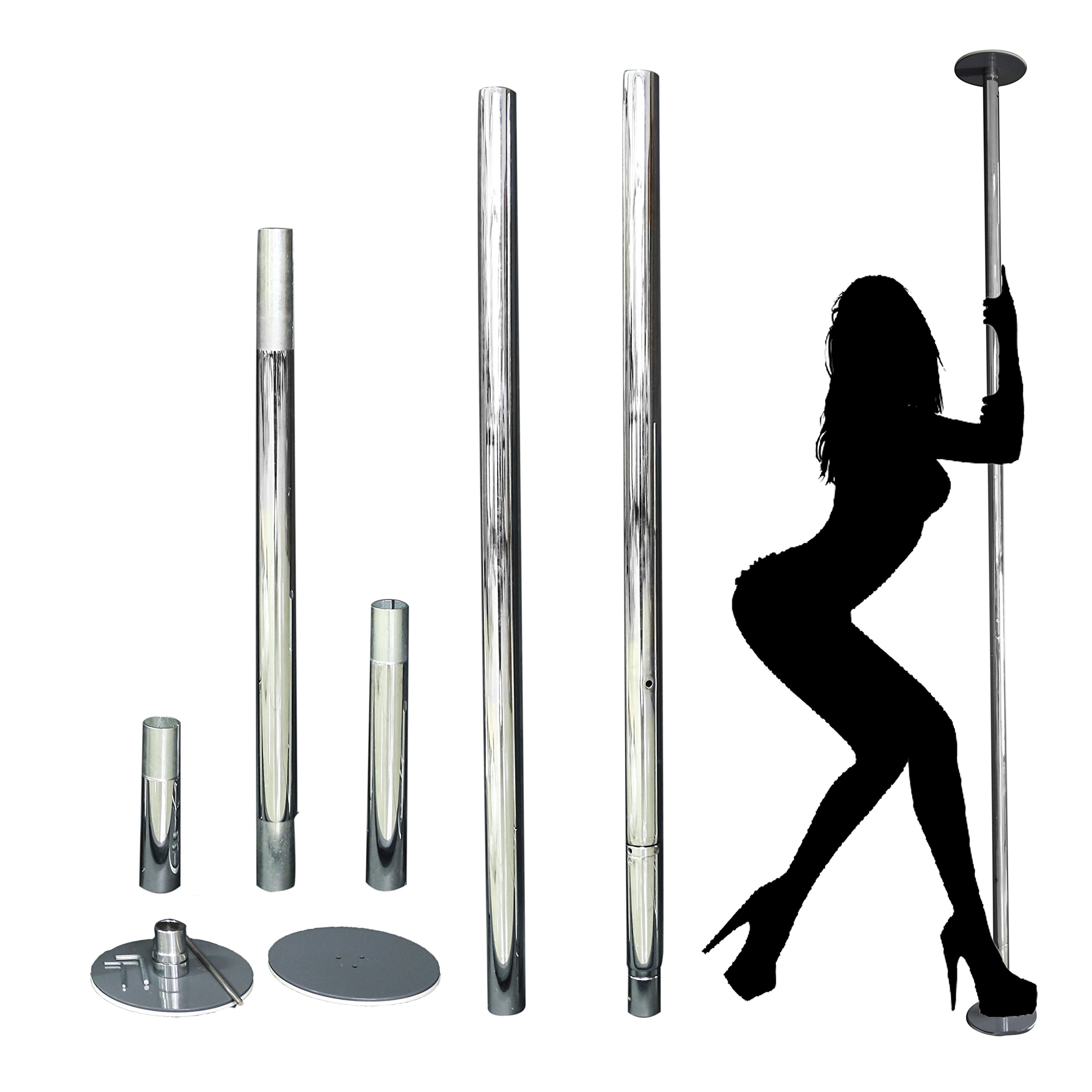 HETHRONE Professional Rotary Stationary Dancing Pole 45mm 1.5 thickness Spinning & Static