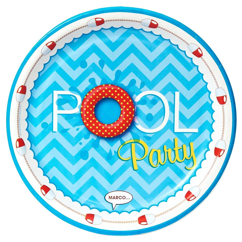 Party Destination COMINHKPR63587 BirthdayExpress Summer Beach Ball Pool Party Supplies 8 Dinner Plates
