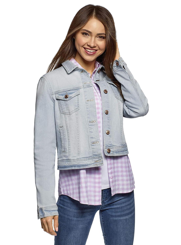 oodji Ultra Womens Basic Denim Jacket