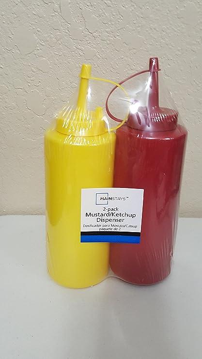 Mainstays Ketchup y mostaza Squeeze dispensador de botella