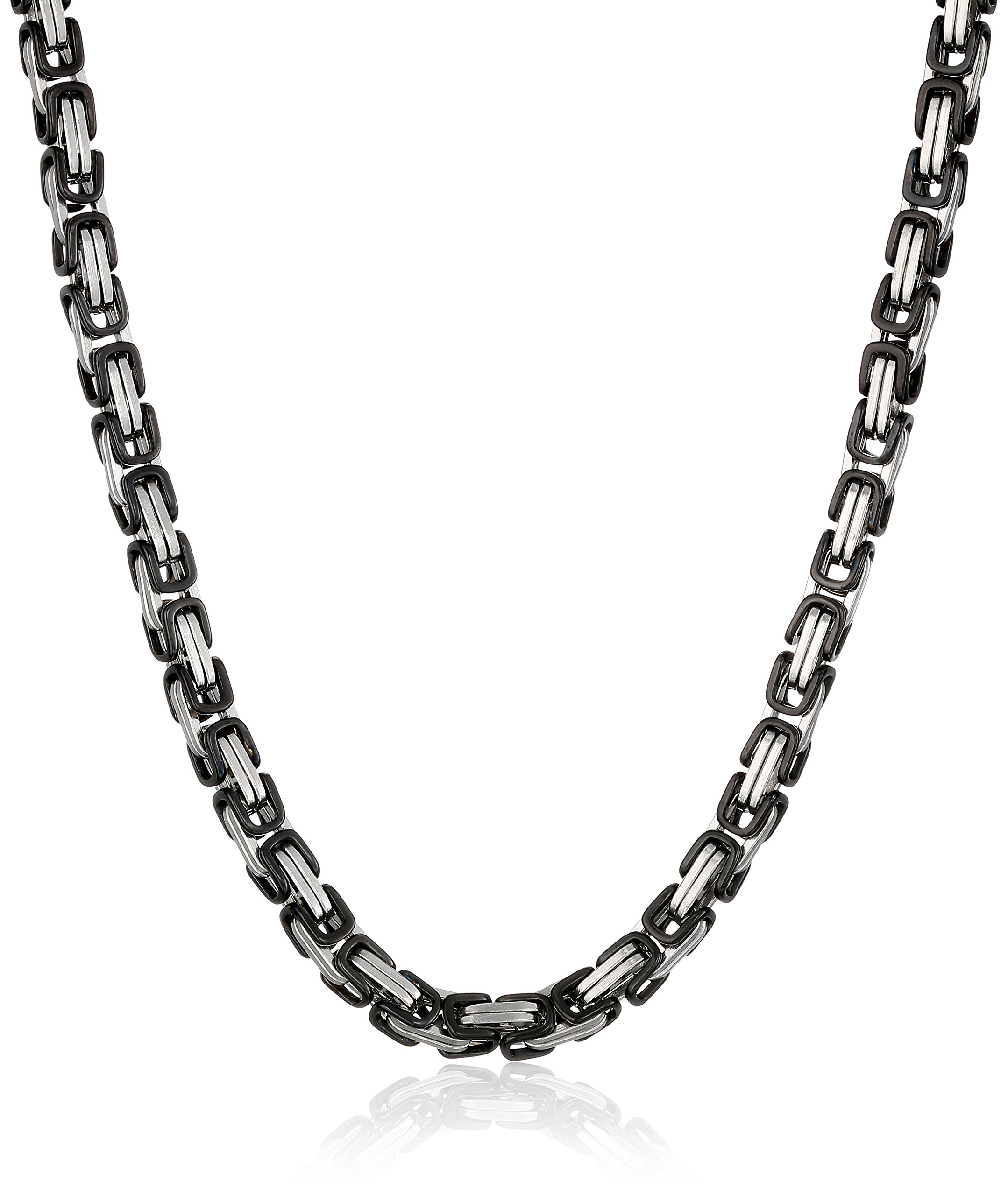 Cold Steel Men's Stainless Steel Black Immersion Plated Chain Necklace, 22''