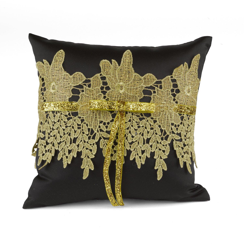 Hortense B. Hewitt Golden Vintage Ring Pillow by Hortense B. Hewitt