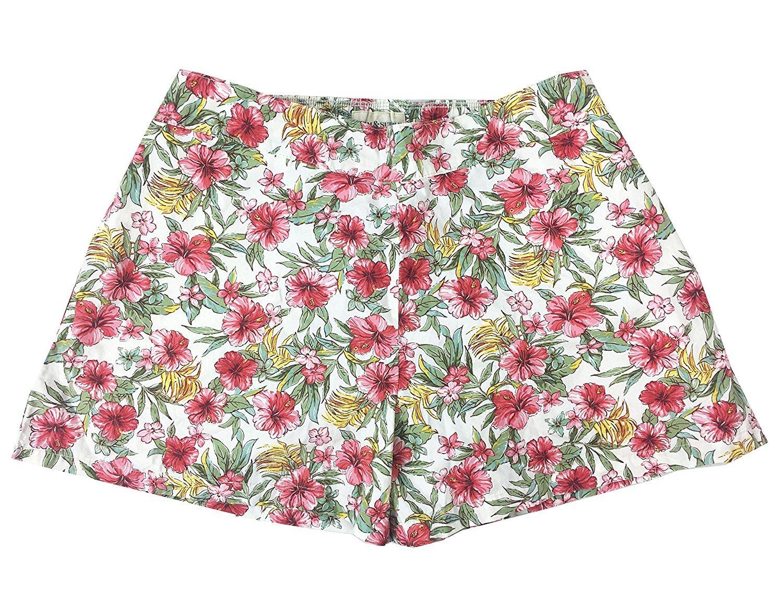 RALPH LAUREN Denim & Supply Women's Floral-Print Poplin Shorts (XS, Hibiscus Tropical)