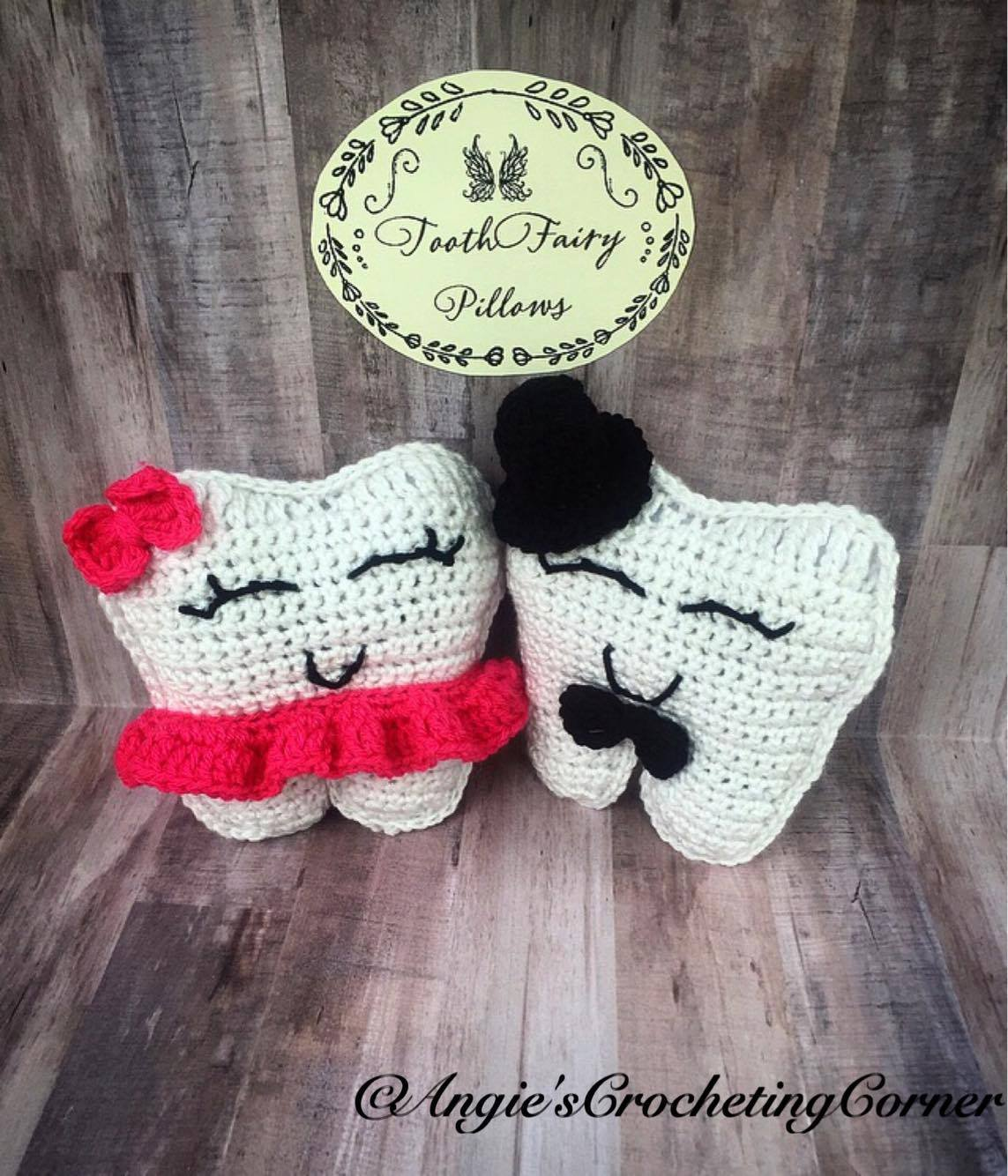 Crochet Tooth Fairy Pillow, Boy and Girl Tooth Fairy Pillow, Tooth Pocket Pillow, Tooth Holding Toy, Tooth Fairy Toy