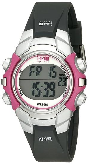 Timex T5J151 4E - Reloj digital de cuarzo para mujer con correa de resina, color negro: Timex: Amazon.es: Relojes