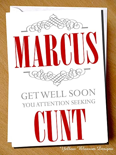 Personalised Insult Cunt Get Well Soon Card Funny Insulting Get